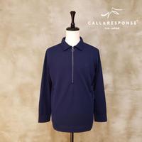 マイクロピケZIPプルオーバーシャツ CALL&RESPONSE 192-1211-01