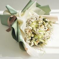 【ドライフラワーの花束】 ペールグリーン