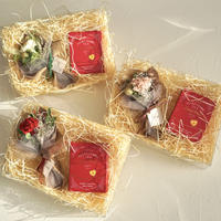 【ギフトセット】カーネーションのミニ花束と紅茶のセット