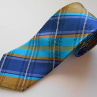 ネクタイ タータンチェック  シルク(絹)100%