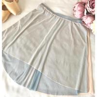 Reversible Skirt (Smoky Blue×Salmon Beige)