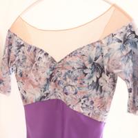 Off Shoulder leotard( Purple )