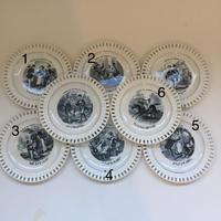 19世紀 リュネヴィル おしゃべりなお皿  誕生月占い レース皿 1ー6