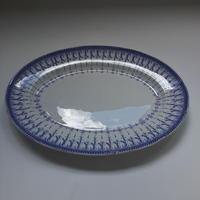 19世紀半ば クレイユ・エ・モントロー  ルブーフ・ミリィエ ロカイユ オーヴァル・プレート 大皿