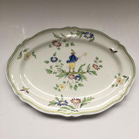 1970年代 ロンシャン ムスティエ柄 プラオーヴァル 楕円形大皿