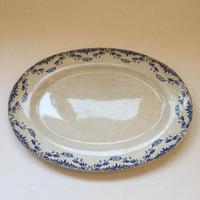 19世紀後期 クレイユ・エ・モントロー ミレイユ 楕円型大皿、デザートプレート 2点セット
