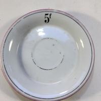19世紀中期 ビストロ用 アプサン用 ソーサー お釣り銭皿 ピンク