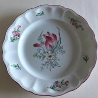 19世紀 リュネヴィル ディナー・プレート チャイナ チューリップ柄 2