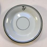 19世紀中期 ビストロ用 アプサン用 ソーサー お釣り銭皿 グリーン3点セット