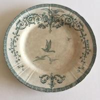 19世紀後半 ジアン ディナープレート マリー・アントワネット 鳩柄
