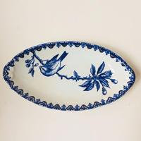 19世紀 HB ショワジー・ル・ロワ ラヴィエ オードブル皿 すずめ柄