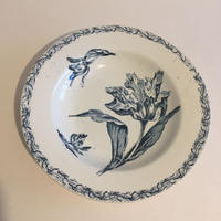 19世紀後半  リュネヴィル  スーププレート チューリップ柄 深皿x4 平皿x2、リュネヴィル? ラヴィエ 小花柄x1 7点セット