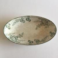 19世紀 クレイユ・エ・モントロー ラヴィエ 前菜皿 三つ葉のクローバー柄 1ー3