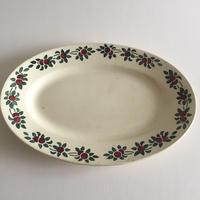 1930年代 HBCM ショワジー・ル・ロワ クレイユ・エ・モントロー オーバル・プレート 楕円大皿
