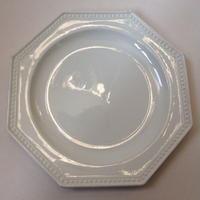 19世紀 モントロー デザートプレート 中皿 オクトゴナル パールリム 6