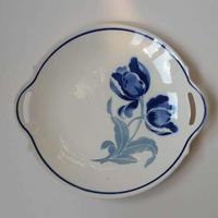 1900年代 アンティーク プラ・ア・デセール デザート皿 バドンヴィレー ヴァランティーヌ ポーセレンフィヌ チューリップモチーチ