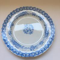 19世紀半ば クレイユ・エ・モントロー ヴィーニュ プレート 大皿31cm ぶどう柄