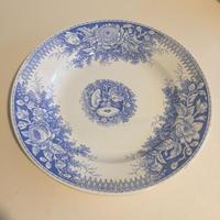 19世紀後半 サルグミンヌ ジャルディニエ ディナープレート 平皿 ブルー
