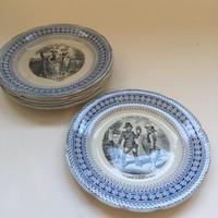 19世紀後半 ショワジー・ル・ロワ H・ブーランジェー おしゃべりなお皿 花言葉 1−6