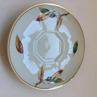 1950年代 リモージュ フリュギエ アルミナイト ソーサー 木の葉柄 1-2