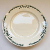19世紀 ロンシャン ディナープレート ベルヴィル リボン柄