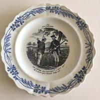 19世紀 クレイユ・エ・モントロー デザート・プレート ア・ラ・カンパーニュ no9