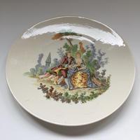 1875年 サルグミンヌ デザート・プレート ヴェルサイユ ロココ柄 1-2