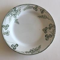 19世紀 クレイユ・エ・モントロー ディナープレート リシュリュー 三つ葉のクローバー柄 1ー13