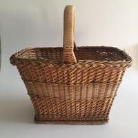 1950年代 パニエ バスケット 籐、柳、スクビドゥー製 ベージュ
