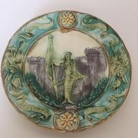 19世紀  オナン窯 バルボティーヌ プレート ジャンヌ・ダルク