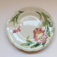 1900 サンクレモン バルボティーヌ デザートプレート赤い花 2枚セット