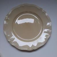 1920年代 サルグミンヌ 花リム ディナー・プレート 平皿 23cm  Aランク 1ー3