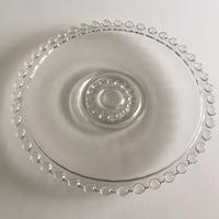 1950年代? ヴィンテージ 鋳造ガラス パールリム プレート サイズM