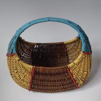 1950年代 パニエ バスケット かご 藤とスクビドウー製