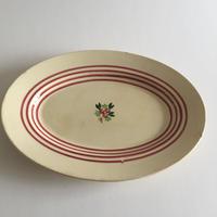 1940年代 ジアン オーバル・プレート 楕円プレート ストライプ+小花柄
