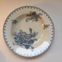 1900年 サルグミンヌ スープ・プレート フロール 花柄