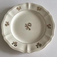 1920年 サルグミンヌ 花リム デザートプレート ゴールド小花柄 1ー4