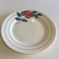 1920年代 HBCM ショワジー・ル・ロワ クレイユ・エ・モントロー ディナープレート 平皿 フランソワ 薔薇柄 1−12
