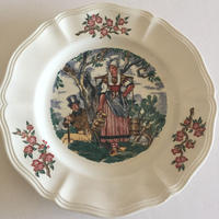 1920年代  サルグミンヌ デザートプレート おしゃべりなお皿 マ・ノルマンディー 1−5