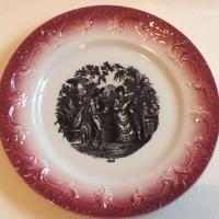 19世紀 ペクソンヌ おしゃべりなお皿 デザートプレート バルボティーヌ 5月