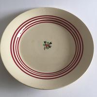 1940年代 ジアン プレート 大円皿 平皿 ストライプ+小花柄