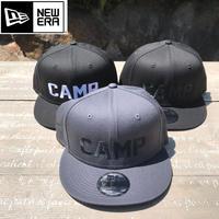 "NEW ERA   ""CAMP""  刺繍キャップ"
