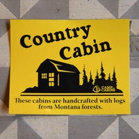 """Country Cabin""ステッカー"