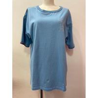 LIME.手刺繍風Tシャツ(ブルー).P999