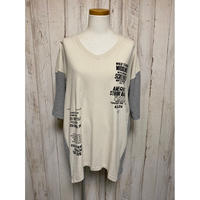 LIME.サーマル切替VネックTシャツ.1619