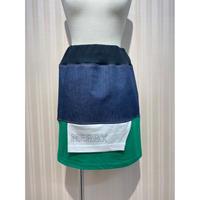 MORIyumi.リメイクTシャツデニムスカート(グリーン×ホワイト).O0550
