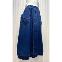 変形バルーンデニムスカート(ブルー).O0197