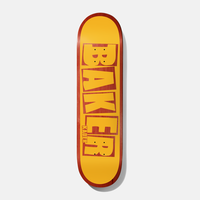 BAKER KADER BRAND NAME YELLOW/RED DECK 7.875
