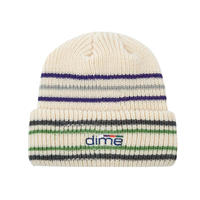 DIME STRIPED BEANIE WHITE