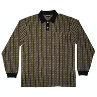 PASS~PORT TIDLE KNITTED POLO LONG SLEEVE GREEN